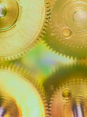 Cogwheel (Tomo M) Tags: cogwheel macromondays macro gold reflection metal instruments parts light bokeh