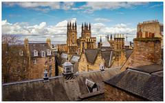 Rooftop view, Edinburgh (S.R.Murphy) Tags: edinburgh sonynex6 architecture rooftops photoshop digitalart photoart scotland gb uk