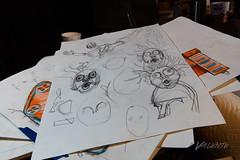 2018 Buskers in the Burg, Workshop (Dennis Valente) Tags: 2018 buskersintheburg usa mermadon washington art 5dsr workshop puppetry drawing design puppet ellensburg pnw faces giantpuppet
