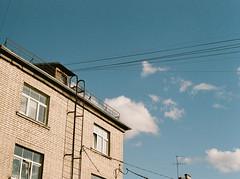 (ozolinakatrina) Tags: pentax k1000 kodak grain film filmphotography 35mm analog riga architecture street sky city blue