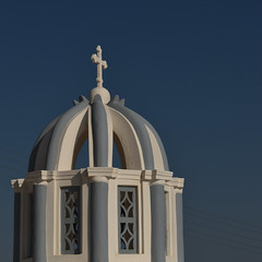 Greece - Santorini (Harshil.Shah) Tags: santorini greece aegean cyclades kiklades church blue white fira thira greek architecture orthodox building cross σαντορίνη θήρα ελλάδα κυκλάδεσ sky dome