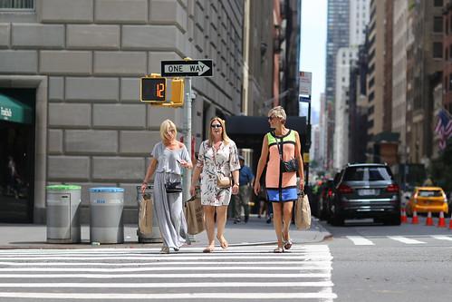 People on 7th Avenue.