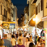 Old town street in Porec, Croatia thumbnail