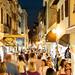 Old town street in Porec, Croatia
