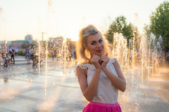 Lara sunny (Andrew Goldman) Tags: nice lovely great models beautiful sunny lady girl woman portrait photo water dress