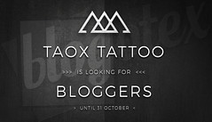 TAOx looking for Bloggers until october 2018 (taox_novaland) Tags: blogotex blogger sl taox looking for tattoo second life search new 2018 apply app secondlife omega spam