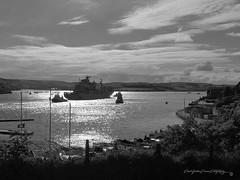 FGS BONN A1413 Mono (PAUL YORKE-DUNNE) Tags: tamar river plymouth
