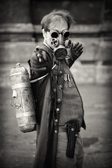 Portrait from Lincoln's Asylum X Steampunk Festival (Gordon.A) Tags: lincolnshire lincoln cathedral asylum x asylumx theasylum steam punk steampunk weekend convivial lincolnasylum lincolnasylumsteampunk lincolnasylumsteampunkfestival festival festiwal festivaali festivalen festspiele alternative culture subculture lifestyle creative costume goggles handgun gun pistol weapon man face people event eventphotography amateur street photography day daylight outdoor outdoors outside town city urban pose posed naturallight portrait mono monochrome monochromatic monotone blackandwhite bnw bw canon eos 750d sigma sigma50100mmf18dc