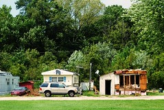 Small trailer park - Rockford, Illinois (Cragin Spring) Tags: rural illinois il midwest unitedstates usa unitedstatesofamerica trailer trailerpark fire burnt rockford rockfordillinois rockfordil