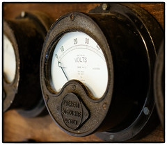 Power (S.R.Murphy) Tags: august2018 cornwall power text electric electricity old dial dials texture steel stilllife fujifilmxt2 everett london volts voltage fujifilmxf35mmf2