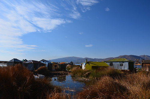 The dunny, floating islands, Lake Titicaca