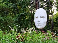 Lamellar (Aram Bagdasaryan) Tags: sculpture face flowers installation modern green