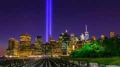 Will Never Forget! (Hameed S) Tags: newyorkcity tribute tributeinlight nyc newyork nightphotography usa neverforget brooklyn brooklynbridgepark lights goldenhour sunset wtc worldfinancialcenter skylines skyscraper cityscape cityatnight urban urbanenvironment tourism travel tourist architecture