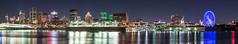 Montreal Skyline Pano (-> LorenzMao <-) Tags: montreal montréal multicolor montrealdowntown nikond750 nightphotography nightlights downtown sigmalens skyline sigma70200mm water waterreflection ferriswheel montrealskyline