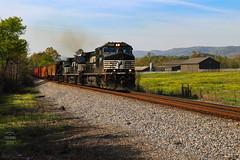 NS M74 (Steve Hardin) Tags: engine locomotive diesel electric d944cw norfolksouthern railway railroad railfan manifest freight train farm country sugarvalley georgia
