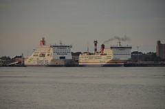 Stena Britannica & Stena Transporter (Hugo Sluimer) Tags: delandtong landtongrozenburg landtong portofrotterdam port haven rozenburg nederland holland zuidholland nlrtm onzehaven