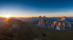 Mountain Sunset (F!o) Tags: mavic2 mavic2pro dji aerial dolomiti dolomiten luftbild alpen alps sonnenuntergang sunset alpenglühen
