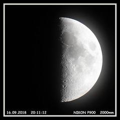 Meine Fotos vom Mond (Horst Erkrath) Tags: mond moon horst bostelmann erkrath düsseldorf germany neandertal halbmond inexplore
