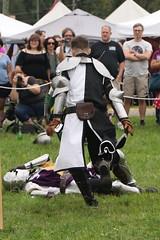 The Mysterious Knight is Injured (Itinerant Wanderer) Tags: pennsylvania buckscounty wrightstown villagerenaissancefaire