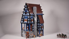 LEGO Medieval WIP 4 (DK_Titan) Tags: lego 10193 modular medieval layout town moc classic castle timbered house toys roof cobblestone minifig minifigure afol wood