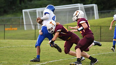Sack & forced fumble (AppStateJay) Tags: 2018 action athlete athletics football game gryphons home nc nikond500 northcarolina rutherfordcounty season sport tjca tarmon70200mmf28 tarmon70200mmf28dildifmacro team thomasjeffersonclassicalacademy varsity