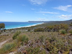 2016-09-27 Friendly Beaches Scenic Lookout 13 - Freycinet Peninsula from lookout (Cowirrie) Tags: tasmania freycinetnationalpark friendlybeaches beach friendlypoint tasmansea sea