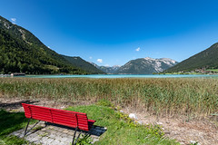 Rote Bank am Achensee (Peter Goll thx for +11.000.000 views) Tags: 2018 d850 lake nikon österreich tirol bench alps see berge bank nikkor mountain alpen achensee ebenamachensee at