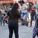 Jumping Rope Singing and Chanting Abolish ICE Protest and Rally Downtown Chicago Illinois 8-16-18 3164