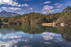 DSC_0185 (juor2) Tags: d750 nikon scene travel japan fukushima aizuwakamatsu lake pond maple autumn scenery volcano colorful