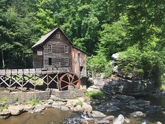 Glade Creek Grist Mill (Bitmapped) Tags: babcockstatepark clifftop fayettecounty gladecreekgristmill usa westvirginia