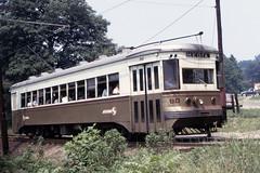 US PA Philadelphia SEPTA-PSTC Red Arrow 80 7-1973 (David Pirmann) Tags: pa pennsylvania philadelphia septa redarrow pstc philadelphiasuburbantransco interurban train trolley tram transit railroad