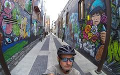 Freak Alley (The.Mickster) Tags: self wideangle gopro fisheye freakalley alley idaho city graffiti buildings randy boise downtown hereios wah