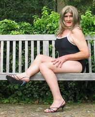 Carlablaswmbnch-001 (fionaxxcd) Tags: transvestite trannie tranny m2f mtf crossdresser swimsuit stilettos bust longblondehair rednails thighs