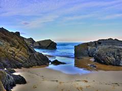 Between the rocks I (elphweb) Tags: hdr highdynamicrange nsw australia coast coastal seaside clouds cloudy cloud sky skies beach sea ocean water