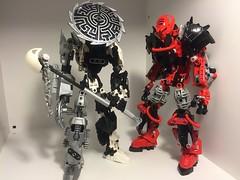 Hangman (Left) and Old Ray'd (Right) (HyperShadow623) Tags: tahu toa lego legomoc makuta bionicle legobionicle moc