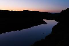 River in dusk (kat-taka) Tags: dusk river stream shadow shiluette water mountain black tree nature landscape