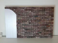 Brickwall - again (Levitation_inc.) Tags: ooak display diorama brickwall wall brick bricks background photography doll playscale 16 miniature styrofoam levitation crafting