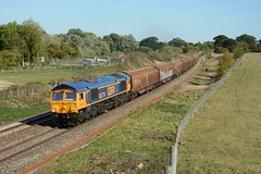66774. Hungerford Common. 17-09-2018 (*Steve King*) Tags: 66774 gbrf class 66 6v32 divert berks hants hungerford common steel train freight