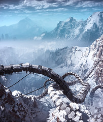 Horizon Zero Dawn (Matze H.) Tags: horizon zero dawn complete edition frozen wilds mountains snow machine photo mode ice uhd 4k wallpaper screenshot ingame graphic