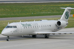 OE-LSS, Zurich, May 16th 2004 (Southsea_Matt) Tags: oelss styrianspirit bombardier crj200lr zurich kloten lszh zrh switzerland canon 10d may 2004 spring airplane aeroplane jetplane jet jetliner airliner aviation plane transport regionaljet