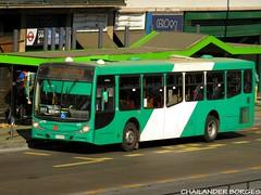 Buses Vule 1242 (Chailander Borges (São Paulo/Brasil)) Tags: buses bus chile sistema autobuses transantiago trans santiago cidade transport public ônibus autobus articulado rua parabrisa placa edifício