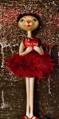 BE MINE (*Furball*) Tags: figurine feline cat panther heart sparkles red edmonton alberta canada