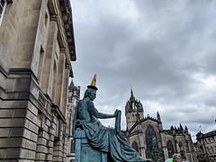 IMG_20180901_131539 (Tom McE) Tags: trafficcone adamsmith statue royalmile edinburgh