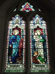 St. Mary's Church, Bramshott, Hampshire (Living in Dorset) Tags: stainedglasswindow churchwindow church window mercy love arthurtitherington 1917 stmaryschurch bramshott hampshire england uk gb