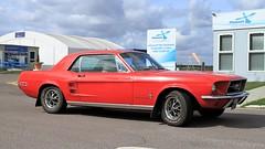 1967 Ford Mustang KSC 142E (BIKEPILOT, Thx for + 4,000,000 views) Tags: 1967 ford mustang ksc142e red car vehicle classic transport sportscar blackbushe eglk airport airfield aerodrome hampshire england uk britain