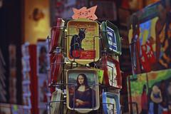 Montmartre (TheJennire) Tags: photography fotografia foto photo canon camera camara colours colores cores light luz young tumblr indie teen adolescentcontent monalisa souvenir 2018 50mm winter europe eurotrip france paris montmartre detailcolours trip travel art paintings