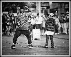 Biggie smalls (gro57074@bigpond.net.au) Tags: candid streetphotography street littlebrother f14 105mmf14 artseries sigma d850 nikon monotone monochrome mono blackwhite bw cbd sydney pittstreetmall boys rap