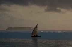 IMGP4153 Early morning in Zanzibar (Claudio e Lucia Images around the world) Tags: matemwe zanzibar tanzania asilia asiliaafrica sails vele boat fisherman fishermen sailboat earlymorning sea sunrise lodge pentax pentaxk5 pentax18135 pentaxart
