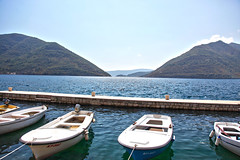 Moored in the harbour (DaveStrong) Tags: canon 5d 5dmarkii 5dii 5d2 5dmark2 mark markii mark2 2 ii 24105mm 24105 24105l summer sun adriatic sea water montenegro crna gora crnagora brach beach ocean boat clear kotor perast harbour harbor