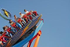 Theme Park Thrill Seekers (g-liu) Tags: themepark attraction ride amusement amusementpark happy thrill santacruz california boardwalk sky a6500 sony fun summer sunny blue excitement july